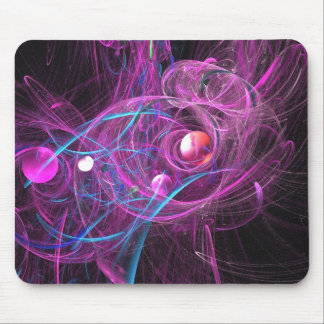 Purple Chronic Pain Fractal Mousepad