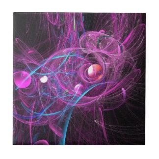 Purple Chronic Pain Fractal Small Square Tile