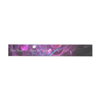 Purple Chronic Pain Fractal Wrap Around Address Label