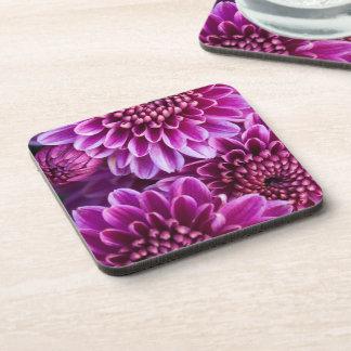 Purple Chrysanthemum Coasters
