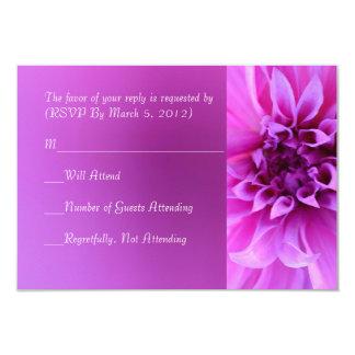 Purple Chrysanthemum RSVP card