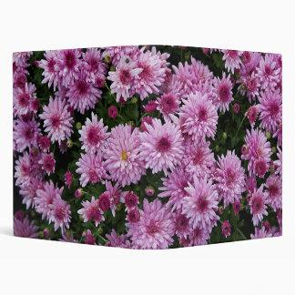 Purple Chrysanthemum X Morifolium Flowers Binder