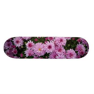 Purple Chrysanthemum X Morifolium Flowers Skateboard Deck