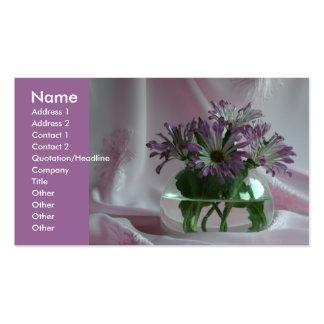 purple chrysanthemums business card template
