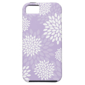 Purple Chrysanthemums Floral Pattern iPhone 5 Cases