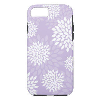 Purple Chrysanthemums Floral Pattern iPhone 8/7 Case