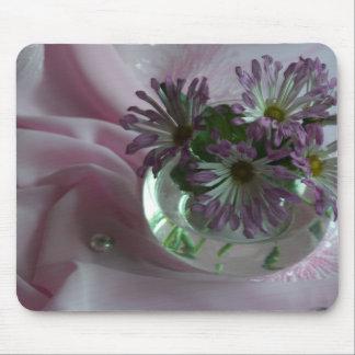 purple chrysanthemums mouse pad