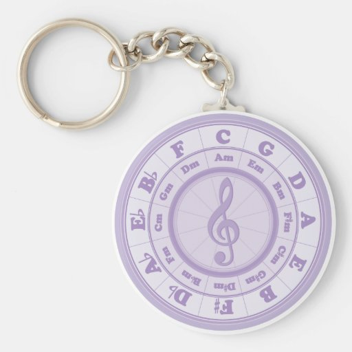Purple Circle of Fifths Key Chain