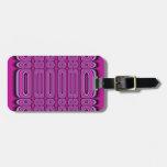 Purple Circle Pattern Bag Tag