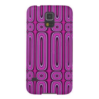 Purple Circle Pattern Galaxy S5 Case
