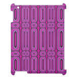 Purple circle pattern cover for the iPad 2 3 4