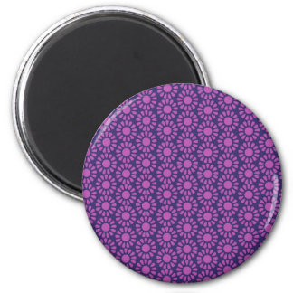 Purple Circle Pattern Flower Design Gifts Magnet