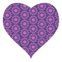 Purple Circle Pattern Flower Design Gifts Sticker