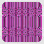 Purple Circle Pattern Square Stickers