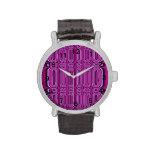 Purple circle pattern watches