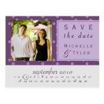 Purple Circle Save the Date Card Postcard