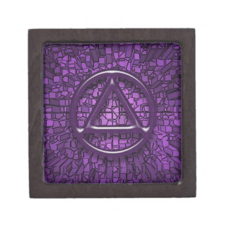 Purple Circle Triangle 2x2 Sober Recovery Box
