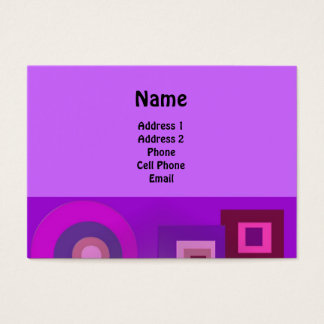 Purple Circles and Squares Business Card