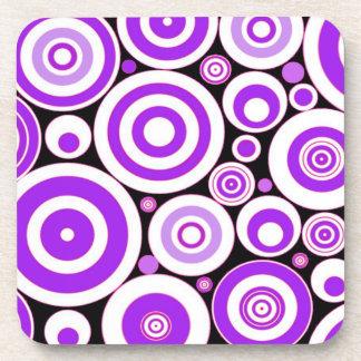 Purple Circles Beverage Coaster