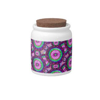 Purple circles candy dish