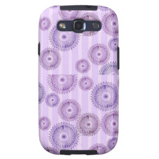 Purple Circles-n-Stripes Samsung Galaxy Samsung Galaxy SIII Cover