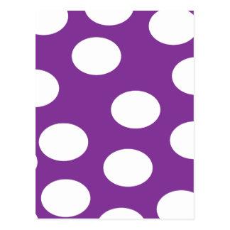 Purple circles postcard