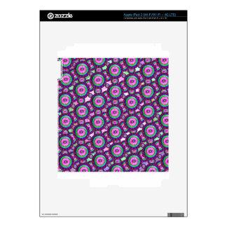 Purple circles skins for iPad 3