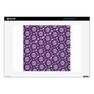 Purple circles skins for laptops