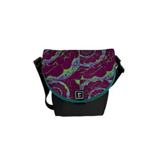 Purple Circles Small Messenger Bag