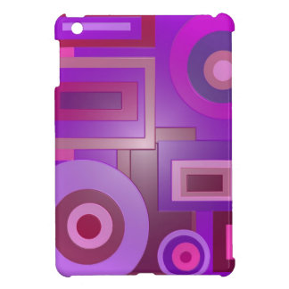 Purple circles squares modern abstract cover for the iPad mini
