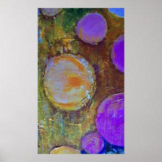 Purple Circles & The Sun Poster