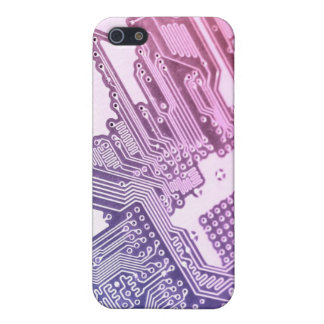 PURPLE CIRCUIT BOARD IPHONE GIRLY GIRLY CASE FOR iPhone 5/5S