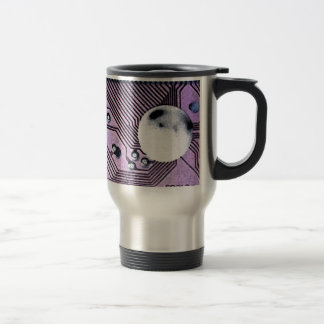 Purple Circuit Board Moonscape Mug