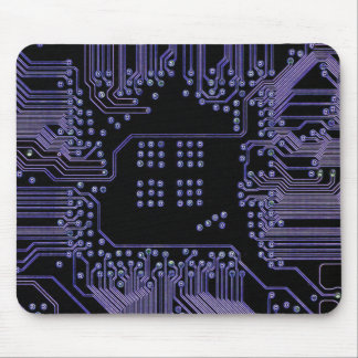 Purple Circuit Board Mouse Pad