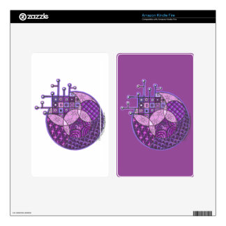 """Purple Circuit"" Tangle Decal For Kindle Fire"