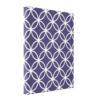 Purple Circular Pattern Canvas Print