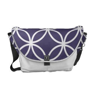 Purple Circular Pattern Messenger Bag
