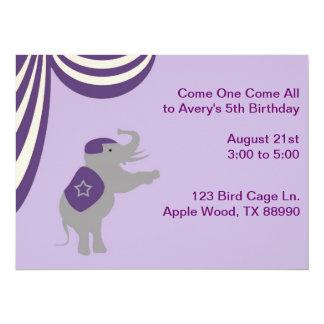 Purple Circus Card