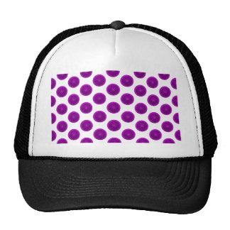 Purple Citrus Slice Polka Dots Trucker Hat