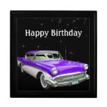 Purple Classic Muscle Car Birthday Bash Gift Boxes