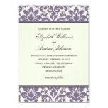 PURPLE CLASSY DAMASK | WEDDING INVITATION