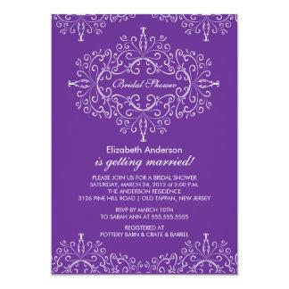 Purple Classy Frame Bridal Shower Invitation