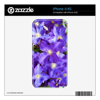 Purple Clematis 1 iPhone 4 Decal