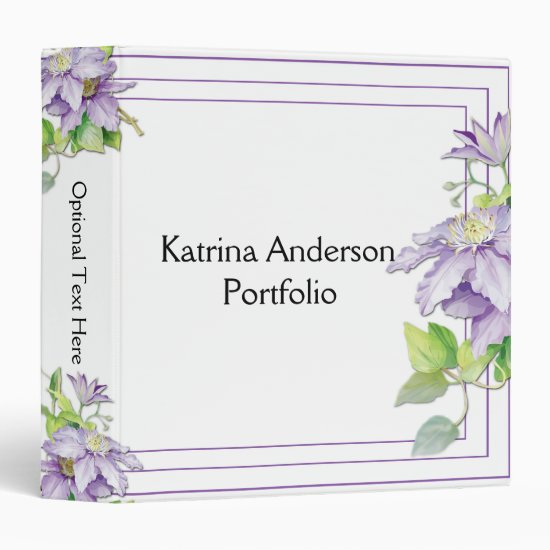 Purple Clematis Avery Binder