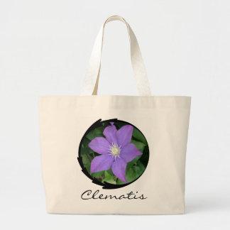 Purple Clematis Canvas Bag