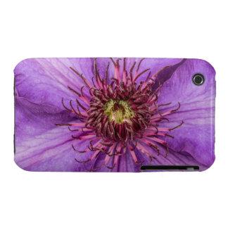 Purple Clematis Flower iPhone 3 Case