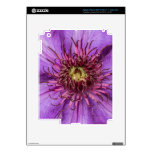 Purple Clematis Flower Decal For iPad 3