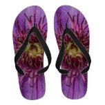 Purple Clematis Flower Flip Flops