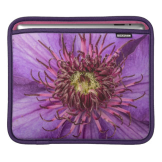 Purple Clematis Flower Sleeve For iPads