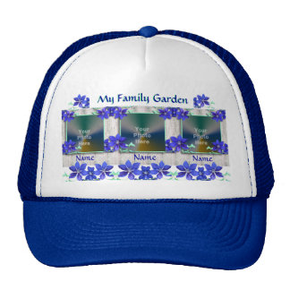 Purple Clematis Flowers Family Garden Photo Hat